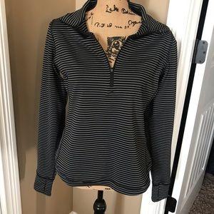 Lucy Half-zip Striped Sweatshirt